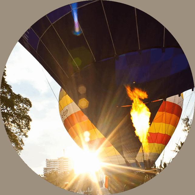 Start der Heißluftballons