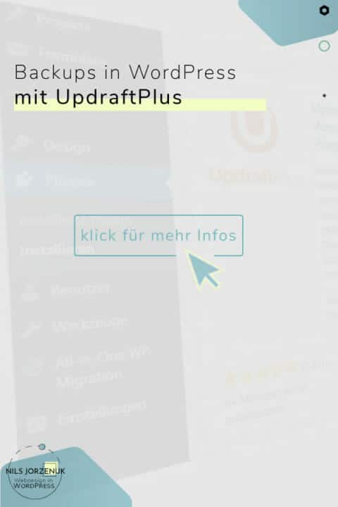"Backup in WordPress- mit dem Plugin ""UpdraftPlus"""