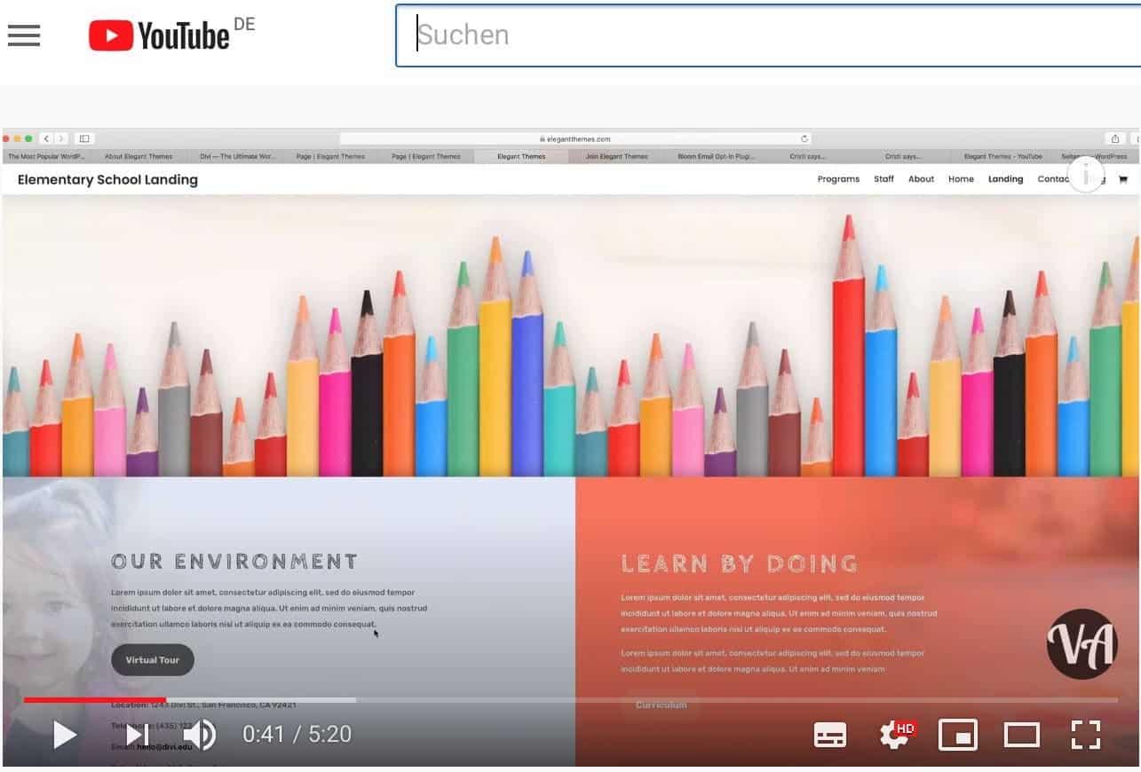 Videos von Online-Kursen auf YouTube