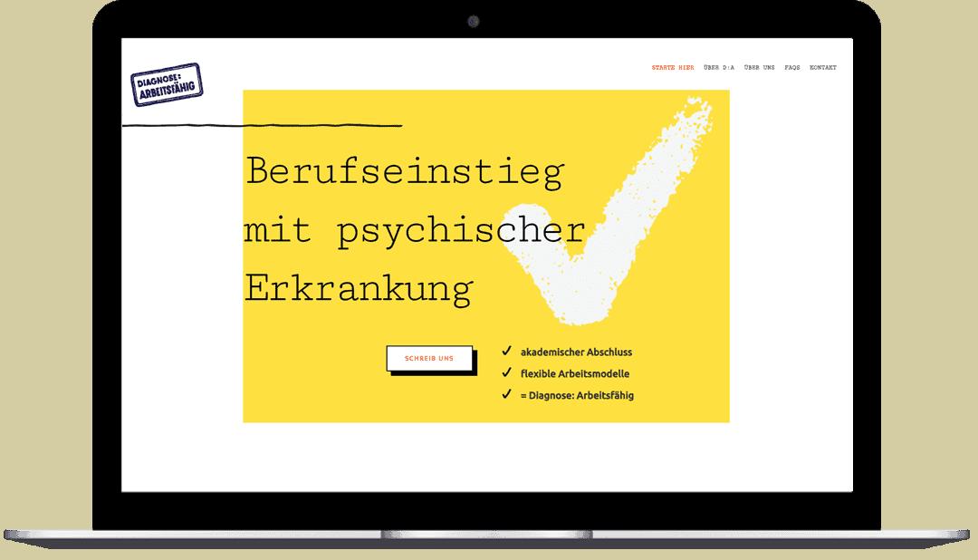 Laptop Website Screen