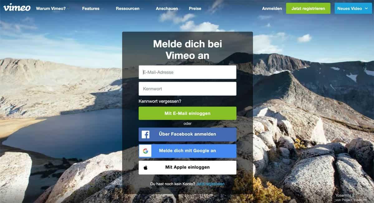 Vimeo als Membership-Videohoster
